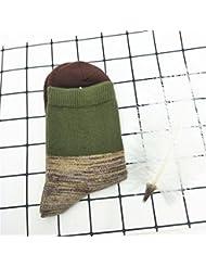 XIU*RONG Calcetines Para Hombres Y Mujeres En Otoño Y En Inviernoverde Negruzcaf (10 Pares)