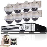 SW 8CH PoE NVR et 8x HD 1080P 65pieds Distance IR Extérieur Résistant au vandalisme PoE IP Caméra de sécurité système Disque dur 3To inclus Enregistreur vidéo intégré PoE facile à installer Plug and Play