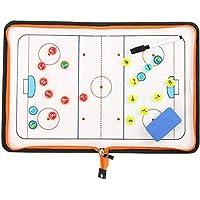 CVERY - Lavagna Magnetica per Allenamento di Hockey, in Pelle Sintetica, Pieghevole, per Sport Tattici di Squadra, con Cerniera, Come da Immagine, 30x44cm