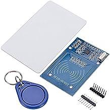 HALJIA NFC RC522 RF RFID IC sensor de tarjeta RFID Reader módulo con S50 Tarjeta Llavero para Arduino