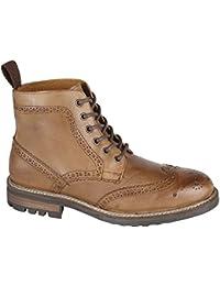 Private marca italiana para hombre botas de abarcas de zapatos de piel de gran tamaño