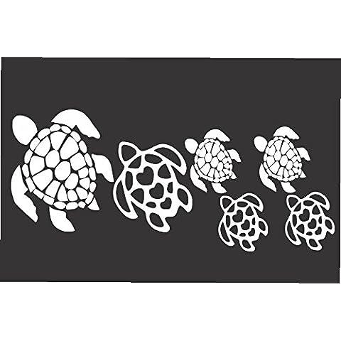 Turtle Family-Die Cut in vinile/decalcomania/adesivo per auto