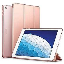 ESR Coque pour iPad Air 2019, Smart Cover Case Housse Étui de Protection avec Support Multi-Angle, Fermeture Magnétique pour iPad Air 2019 10.5 Pouces (Série Colorée, Or Rose)