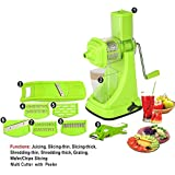 Floraware Fruit & Vegetable Manual Juicer Mixer Grinder,6 In 1 Multi-Purpose Fruit & Vegetable Slicer & Multi Veg Cutter With Peeler