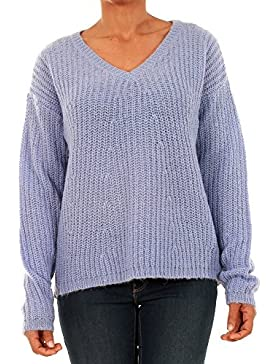 Jersey Vero Moda Mujer Azul 10192791 VMMOLLIE LS V-NECK BLOUSE LTG PALE IRIS