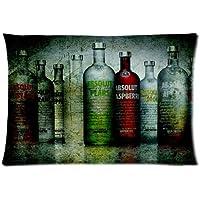 Good Sleep Absolut Vodka botellas grunge personalizado con cremallera manta fundas de almohada 20 x 30