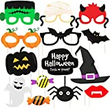 Hand Made 14 Pcs Halloween Party Prop Photo Booth Props DIY Kit For Party Supplies Featuring Boo Pumpkin Ghost Halloween Decorations Photo Booth Props