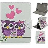 Tsmine Fashion funda con tapa para Acer Tablet PC Full of Love Owl Family Acer Iconia One 8 B1-830