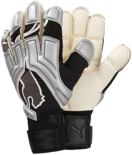 Puma Torwart-v1.08+ Torwarthandschuhe 36 Siver/Grey/White, 10 (Puma Lightweight-jersey)