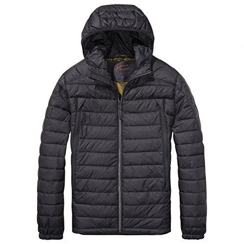 Scotch & Soda Herren Jacke Basic Puffer Jacket Black