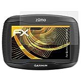 atFoliX Schutzfolie für Garmin Zumo 340LM CE Displayschutzfolie - 3 x FX-Antireflex blendfreie Folie