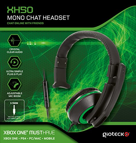 Preisvergleich Produktbild Gioteck XH50 Wired Mono Gaming Headset Green (PS4 / XBOX One / PC) [UK-Import]
