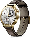 Huawei Watch mit Lederarmband in gold