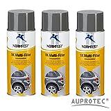 Auprotec® Normfest 1K Dickschichtfüller Multi Filler Lack Füller Grundierung Primer Füllspray (3 Dosen)