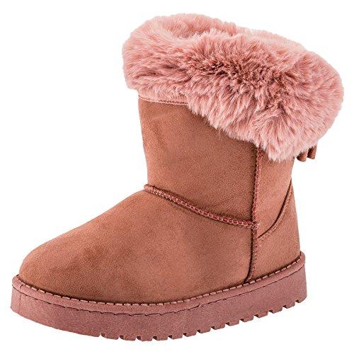 Gefütterte kuschelige Mädchen Boots Stiefel in vielen Farben (28, #240rs Rosa) (Rosa Mädchen Stiefel)