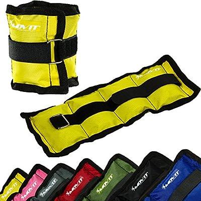 MOVIT® 2er Set Gewichtsmanschetten für Hand- und Fußgelenke, 7 Gewichtsvarianten, 2x 0,5kg - 2x 4 kg von MOVIT®