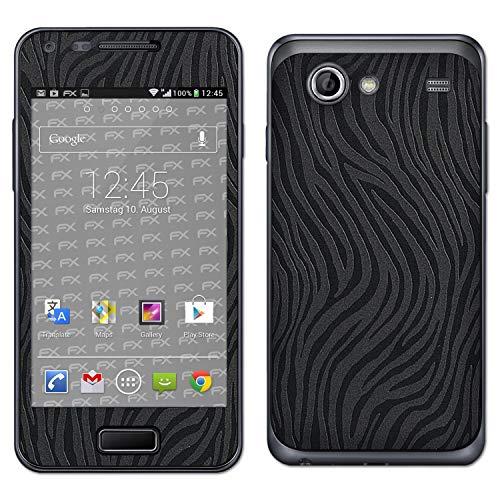atFolix Skin kompatibel mit Samsung Galaxy S Advance GT-I9070, Designfolie Sticker (FX-Wave-Black), Fühlbare Wellen-Struktur (Samsung Galaxy Advance)