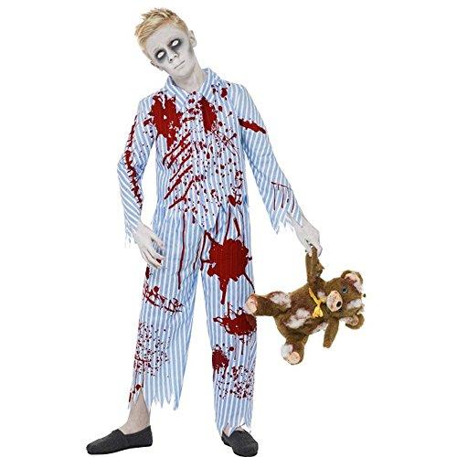 Halloween Kinder Kostüm Zombie Pyjama Junge Gr.12 bis 14 (Zombie Kostüm Pyjama)