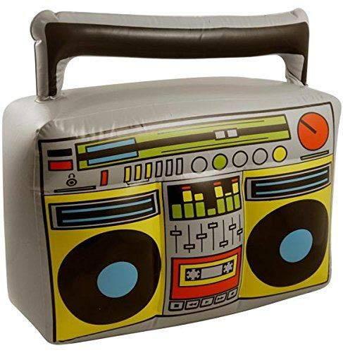 Unbekannt 3 x Aufblasbare Blow Up Boom Box Musik Player Ghetto Blaster Neuheit Fancy Dress (Ghetto Kostüme)