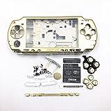 Full Housing Coque Housse avec boutons Vis Tournevis pour Sony PSP 20002001200220032004 doré