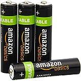 AmazonBasics Lot de 4 piles rechargeables Ni-MH Type AAA 800 mAh