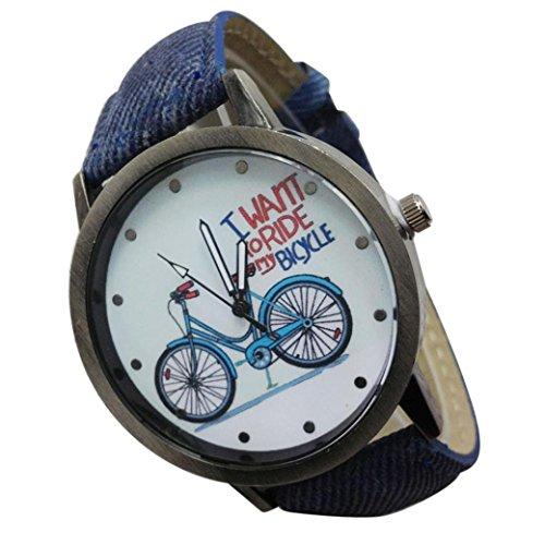 tage Watch Denim Fahrräder männliche und weibliche Studenten Paar Tabelle (Blau) (Blau Tabelle)