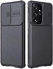 S21 Ultra Case, Nillkin Samsung Galaxy S21 Ultra Camera Protection Case | Slide Camera Cover | Slim Stylish |