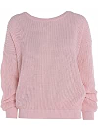 Made By PURL® Ladies New Plain Chunky Knit Loose Baggy Oversized Jumper Tops Womens Long Sleeve Knitted Sweater Top Scoop Neck Warm Pullover