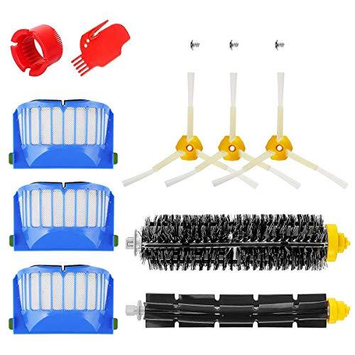 iRobot Roomba Serie 600 Pack Kit Cepillos Repuestos de Accesorios para Aspiradoras 10PCS 600 Series 605 610 615 616 620 625 630 631 632 639 650 651 660 670 680 681.