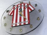 SUNDERLAND FC FOOTBALL CLUB WALL CLOCK - ANY NAME & NUMBER, YOU CHOOSE - BRAND NEW ACRYLIC SHIRT DESIGN