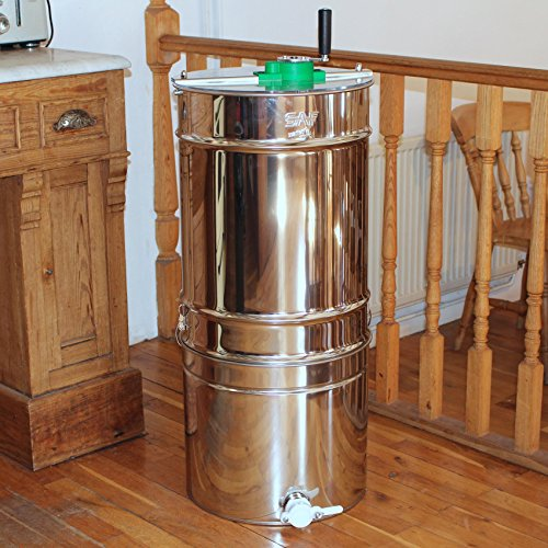 Stainless Steel 4 frame Compatto Manual Honey Extractor Easipet Test