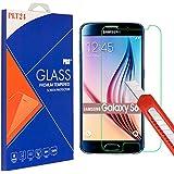 PLT24® 9H Hartglas / Panzerglas für Samsung Galaxy S6 / Displayschutzglas / Tempered Glass / Panzer Glas Display Schutz Folie / Schutzglas / Echte Glas / Verbundenglas / Glasfolie (bewusst kleiner als das Display, da es gewölbt ist)