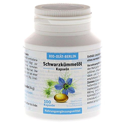 Schwarzkümmelöl Kapseln Bio Diaet 100 stk