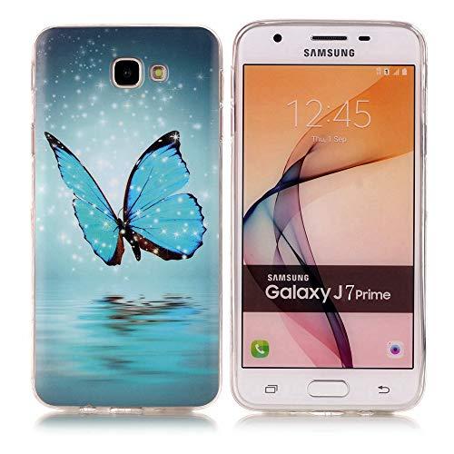 kelman hülle für Samsung Galaxy J7 Prime / On7 2016 / G610 Hülle - Weiches TPU Mode Leuchtend Stoßfest Anti-Rutsch Rückseitige Haut Handyhülle - [#XS44]