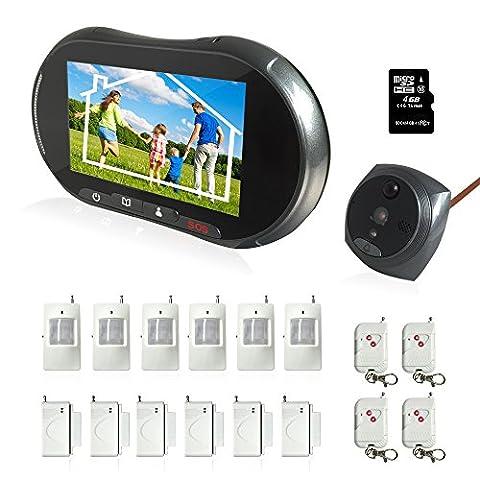 Home Infrarot Wireless Tür und Fenster Sicherheit Intelligent Türklingel Anti Diebstahl GSM Alarm System ,