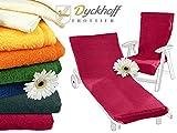 Schonbezug mit Kapuze aus dem Hause Dyckhoff - erhältlich in 7 sommerlichen Farben für Gartenstuhl oder Gartenliege, Gartenstuhl, bordeaux