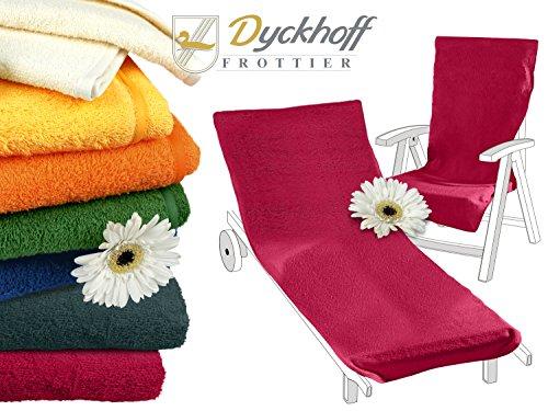 Schonbezug mit Kapuze aus dem Hause Dyckhoff - erhältlich in 7 sommerlichen Farben für Gartenstuhl oder Gartenliege, Gartenliege, bordeaux