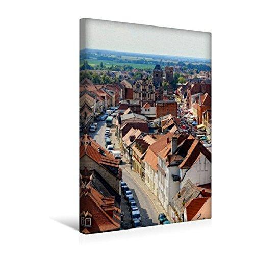 Premium Textil-Leinwand 30 cm x 45 cm hoch, Historisches Zentrum von Tangermünde. Blick von oben. | Wandbild, Bild auf Keilrahmen, Fertigbild auf echter Leinwand, Leinwanddruck (CALVENDO Orte) (Zentrum Historisches)