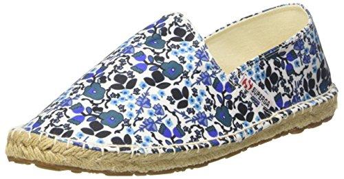 Superga 4524-Fabricfanw, Espadrillas Basse Donna Multicolore (Flowers Blue)