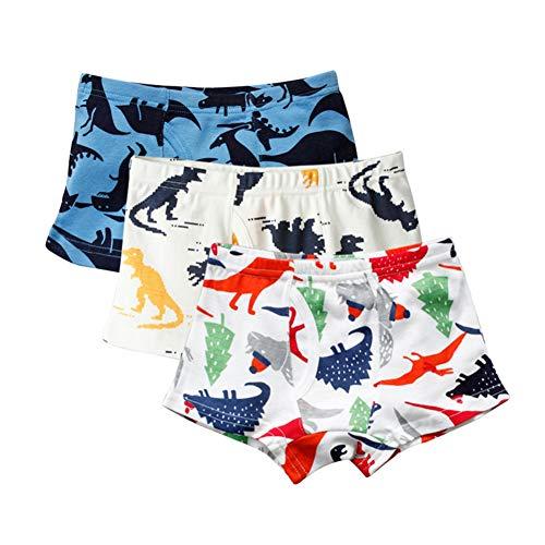 Miyanuby Kinder Baby Jungen Unterwäsche Verschiedene Baumwolle Bequeme Drucke Briefs Panties Boxer Shorts 3 Packs -