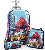 Kris toy Spider Man Hardshell Design Children's EXPANDABLE zip Trolley Bag and Travel School Bag for kids
