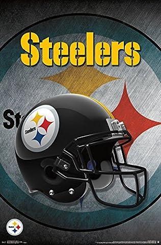 Pittsburgh Steelers Helmet Football NFL Poster RP15440