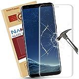 Protector de Pantalla Galaxy S8 Plus, Nakeey Ultra HD Templado Cristal Vidrio 3D Full Coverage de Película Protectora para Galaxy S8 Plus - Dureza 9H Anti-arañazos