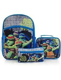 """Nickelodeon Econo 3pc Kit-TMNT 15 """"mochila escolar, bolsa de almuerzo y estuche de lápices"""