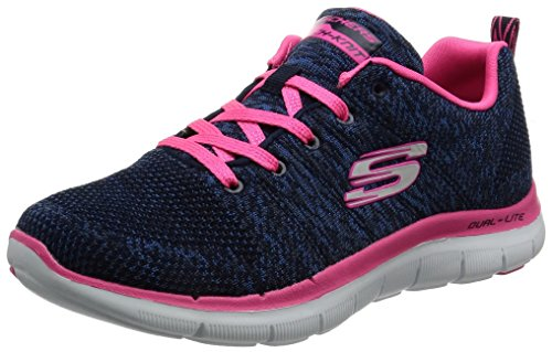 Skechers Flex Appeal 2.0 High Energy Scarpe da ginnastica, Donna, Blu (nvhp), 37