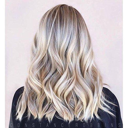 Ugeat 16 Zoll 100g Tressen Echthaar Weaving Extensions Piano Color #18/613 Ash Blonde Mit Bleach Blonde Brazilian Hair One Bundle