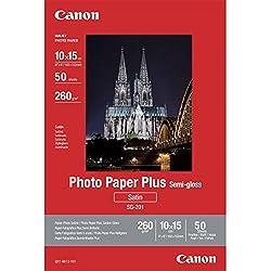 Canon SG-201 Papier Photo Satiné Format 10X15 (50 feuilles)