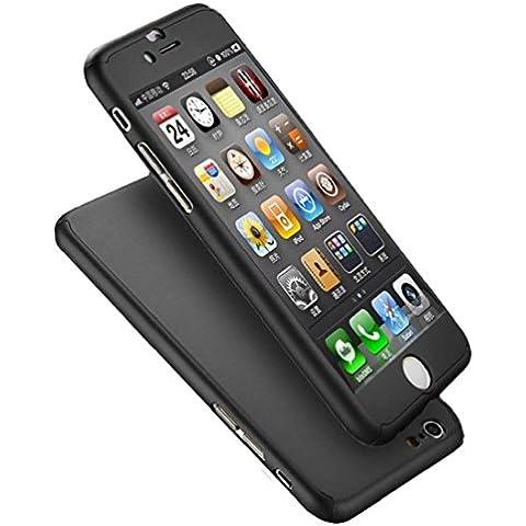 Tongshi Para iPhone 6S 4.7inch, Vaso Acrílico Difícil Caso Cubrir (negro)