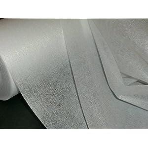 1 lfm. Bügelvlieseline in weiß, 45 g/m², 90 cm breit, doppelseitig aufbügelbar , für leichte bis mittelschwere Stoffe, doppelseitig haftend, Vlieseline, Bügelvlies