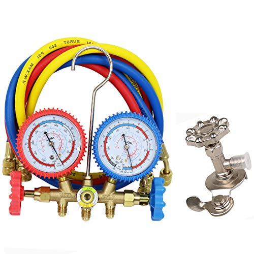 Preisvergleich Produktbild MuChangZi 500PSI Kältemittel Auto Klimaanlage Werkzeuge AC Diagnose Manifold Manometer Sets mit 3 stücke Schläuche für R12 R22 R404A R134A Druckanzeige